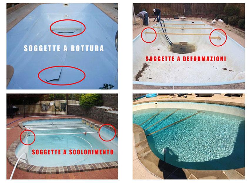 crepe e deformazione piscine in vetroresina